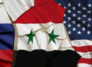 Russia-Syria-US-flags