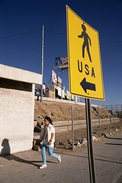 American-Mexican Border near Tijuana